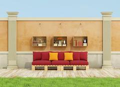 Stock Illustration of Relax in the garden