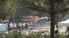 City Festival Public Meal Stock Footage