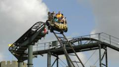 Family in rollercoaster sm Stock Footage