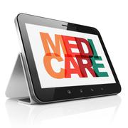 Health concept: Tablet Computer with Medicare on  display Stock Illustration