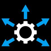 Gear Distribution Icon Stock Illustration