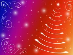 Christmas tree comic Stock Illustration