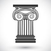 ionic column - stock illustration