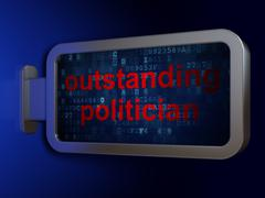 Political concept: Outstanding Politician on billboard background - stock illustration