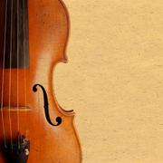 violin vintage background - stock photo