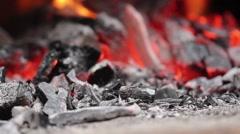 Fireplace in garden - stock footage