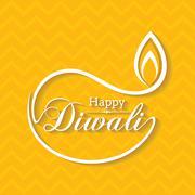 Stylish design and text for Diwali celebration stock vector - stock illustration
