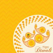 Stylish design and text for Diwali celebration stock vector - stock illustration