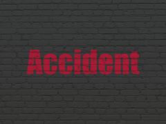 Insurance concept: Accident on wall background Stock Illustration