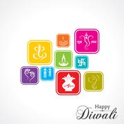 Stock Illustration of Stylish design and text for Diwali celebration stock vector
