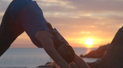 Yoga on Pier Stock Footage