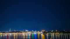 Northern lights over Stockholm, Sweden Stock Footage