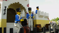 Panning of Lego toy soldiers Stock Footage