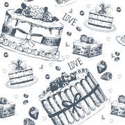 Stock Illustration of Hand drawn love symbols