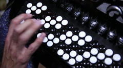 Playing an accordion - stock footage