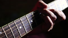 Playing guitar - stock footage