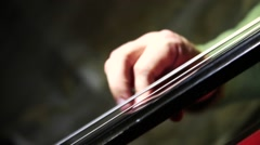 Playing on contrabass - stock footage