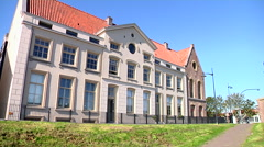 Hoorn old building near the harbor Stock Footage