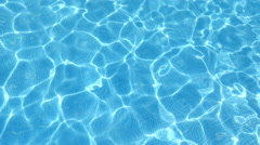 Pool water texture Stock Footage