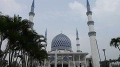 Islamic Mosque Architecture - Masjid Sultan Salahuddin Abdul Aziz Shah - stock footage