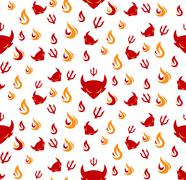 Devil seamless pattern Stock Illustration