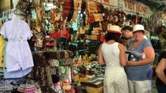 Sovenirs shopping in Nha Trang Stock Footage