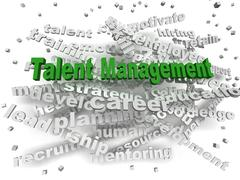 3d image Talent management word cloud concept - stock illustration