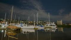 4K Launceston Boats Time Lapse Stock Footage