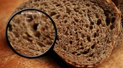 Bread nutrition facts Stock Footage