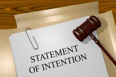 STATEMENT OF INTENTION concept Stock Illustration
