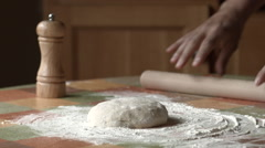 Bread/pizza making Stock Footage