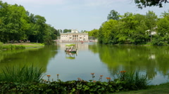 Palace on the Water in Lazienki Park. Warsaw, Poland Stock Footage