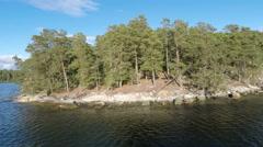 Typical Stockholm archipelago island coastline. Stock Footage