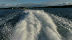 Wake from ferryboat in Stockholm archipelago Stock Footage