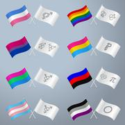 Sexual orientation flags and symbols - stock illustration