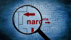 Narcomania maze concept Stock Footage