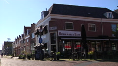 Hoorn old cafe near the harbour Stock Footage