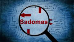 Sadomasochism maze concept Stock Footage