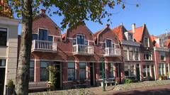 Hoorn old houses near the harbor Stock Footage