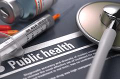 Stock Illustration of Public Health. Medical Concept