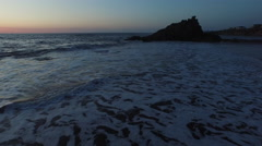 Aerial shof of sunset on Oregon Coast - stock footage