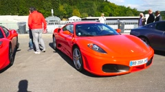 Ferrari F430 and 458 Italia Spider Stock Footage