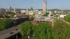 Portland, Oregon, May 12, 2015: Aerial shot of Portland Oregon sign Stock Footage
