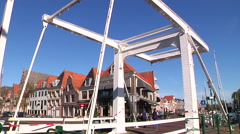 Hoorn old bridge in Hoorn Stock Footage