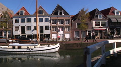 Hoorn Old houses Stock Footage