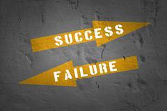 Failure and Success. - stock illustration