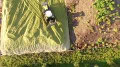 Tractor at a biogas plant in germany - stock footage