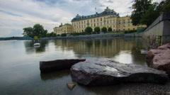 Drottningholm Palace, Stockholm, Sweden Stock Footage