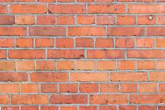 Background of red brick wall pattern texture. - stock photo