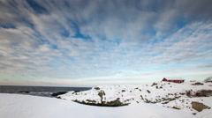 Winter in the Stockholm archipelago, Sweden - stock footage